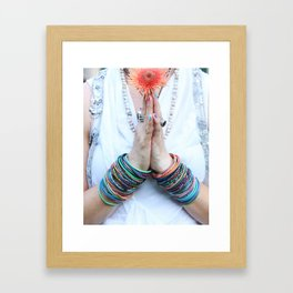 Gratitude Attitude Prayer Hands Framed Art Print