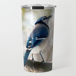 Blue Jay Calling Travel Mug