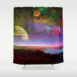 From the Moons of Jupiter Shower Curtain