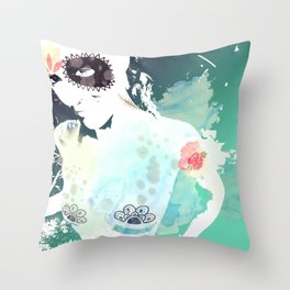 She's from another world Throw Pillow