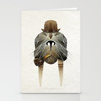 walrus Stationery Cards featuring walrus by Manoou