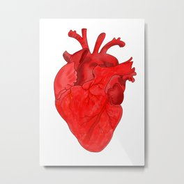 Passion red heart Metal Print