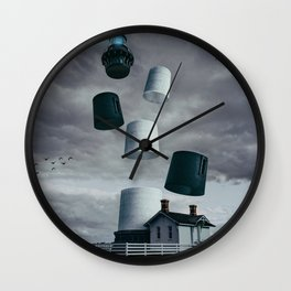 Lighthouse Revisited Wall Clock