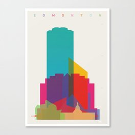 Shapes of Edmonton Canvas Print