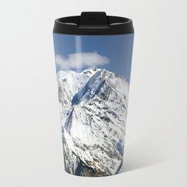 Mt. Blanc with clouds Travel Mug