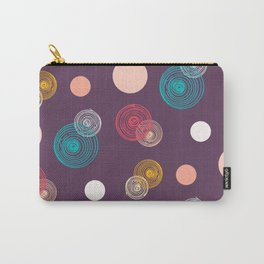 Colorful Scrawled Polka Dots Carry-All Pouch
