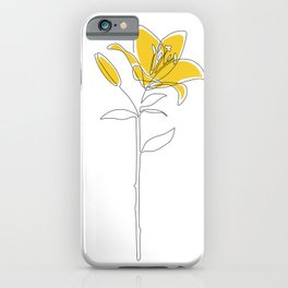 Mustard Lily iPhone Case