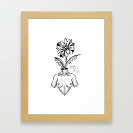 """""""Fresh As A Daisy"""" Framed Art Print"""
