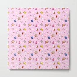 cardcaptor sakura pattern pink Metal Print