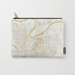 Kansas City Map Gold Carry-All Pouch
