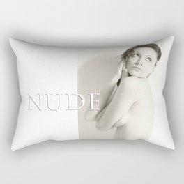 Nude, Akt, Nudes, Nackt, BW Nudes, Aktfoto, Aktfotografie Rectangular Pillow