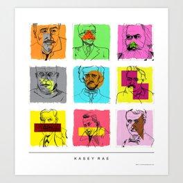 Author/Philosopher Collection Art Print