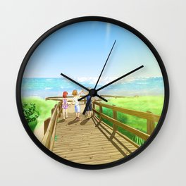 To The Island Wall Clock