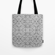 Abstract Mirror Black on White Tote Bag