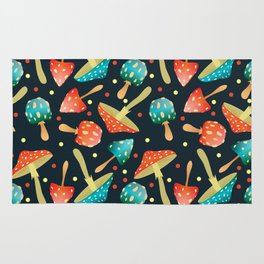 Bright mushrooms Rug