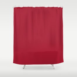 Atlanta Football Team Dark Red Solid Mix and Match Colors Shower Curtain