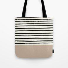 Latte & Stripes Tote Bag