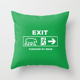 Exit pursued by bear Throw Pillow