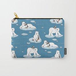 Polar Bear Loves Penguin Carry-All Pouch
