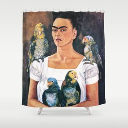 Frida Kahlo Birds Shower Curtain
