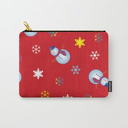 Snowflakes & Snowman_D Carry-All Pouch