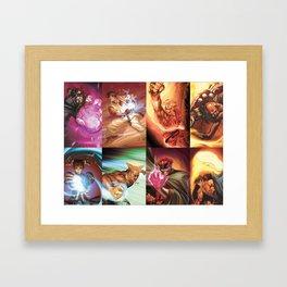 Street Fighter Favorites Framed Art Print