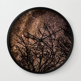 Stars in the Night Sky Wall Clock