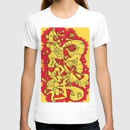 Graffiti Character Mashup T-shirt