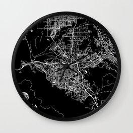 cTm Corona Map Wall Clock