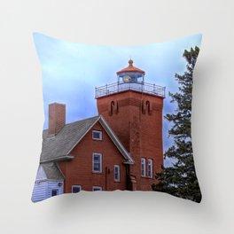 Split Rock Lighthouse Modified Throw Pillow