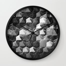 as the curtain falls (monochrome series) Wall Clock