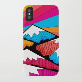 Winter rainbow mountains iPhone Case