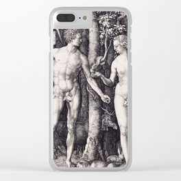 Adam and Eve by Albrecht Dürer Clear iPhone Case