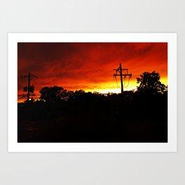 Sunset on Fire Art Print