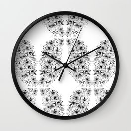 Habiscus Pattern Wall Clock