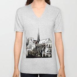 Notre Dame 2 bywhacky Unisex V-Neck