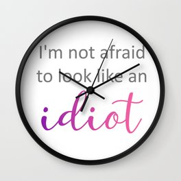 Anthony Bourdain popular quote Wall Clock