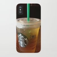 starbucks iPhone & iPod Cases featuring Starbucks Emma by Amanda Byrnes