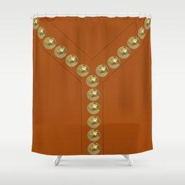 vintage fashion gold details orange Shower Curtain
