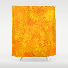 Golden Flower Dayz Shower Curtain