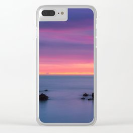 Baily Lighthouse in Purple - Ireland (RR194) Clear iPhone Case