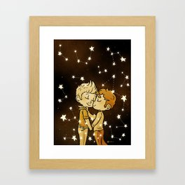 Love Golden Framed Art Print