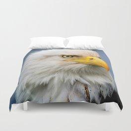 American Bald Eagle Portrait Duvet Cover