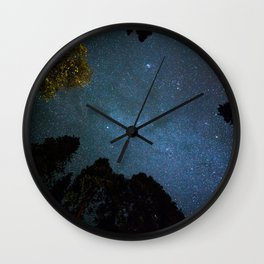 Light and Magic 005 // Canopy of Stars Wall Clock
