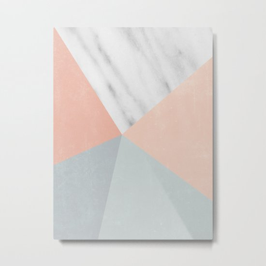 Blossom Geometry Metal Print