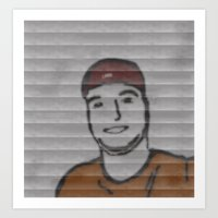 dave matthews Art Prints featuring Dave by NickeChicke