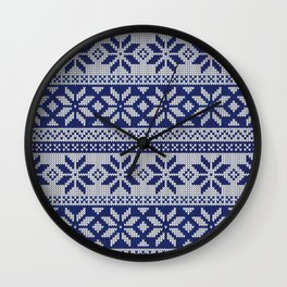 Ugly Blue Christmas Sweater Wall Clock