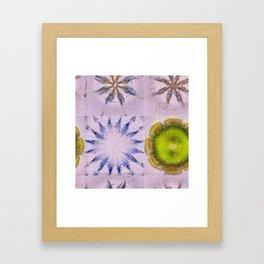 Minimizer Fabric Flowers  ID:16165-003908-98470 Framed Art Print