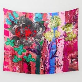 Pink Bird nest Wall Tapestry
