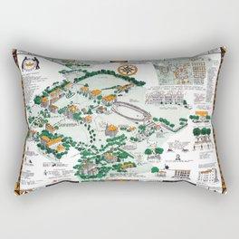 SYRACUSE campus map NEW YORK dorm decor graduate Rectangular Pillow